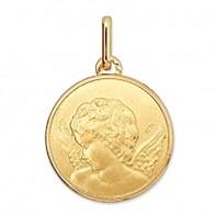 Médaille Ange de profil (or jaune 9k)