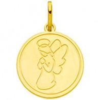 Médaille ange en prière (Or Jaune )