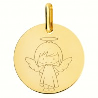 Médaille ange fille (Or Jaune)