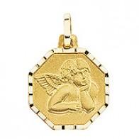 Médaille Ange Octogonale (Or Jaune)