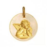 Médaille Ange Nacre (Or Jaune)