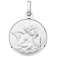Médaille Ange (Or Blanc)