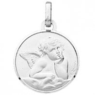 Médaille Ange (Or Blanc 9K)