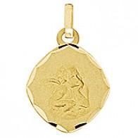 Médaille Ange Ovalisée Ciselée (Or Jaune)