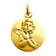 Médaille L'ange pensif (Or Jaune)