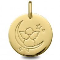 Médaille Ange rêveur (Or Jaune 9k)