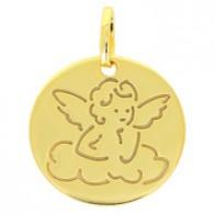 Médaille ange ciselé (Or Jaune)