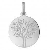 Médaille arbre de vie les 4 saisons : hivers (Or Blanc)