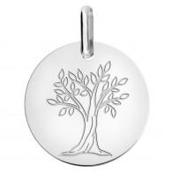 Médaille arbre de vie (Or Blanc 9K)