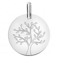 Médaille jeune arbre de vie (Or Blanc 9K)