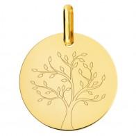 Médaille arbre de vie stylisé (Or jaune)