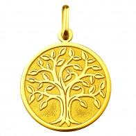 Médaille arbre de vie (Or Jaune 9K)