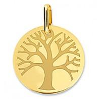 Médaille Arbre de Vie polie (Or jaune 9K)