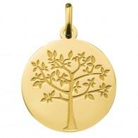Médaille arbre de vie printanier (Or Jaune 9K)