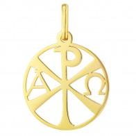 Médaille Chrisme ajouré (Or Jaune)