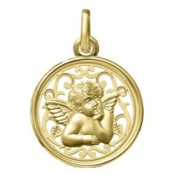 Médaille Ange Ajourée (Or Jaune)