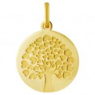 Médaille arbre de vie coeurs (Or Jaune 9K)