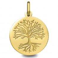 Médaille Arbre de Vie avec racines (Or Jaune 9k)