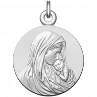 Médaille Vierge à l'enfant (argent) 18mm