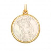 Médaille Notre Dame de Paris en nacre