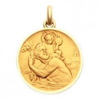 Médaille Becker Saint Christophe (Or Jaune)
