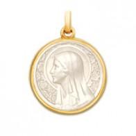 Médaille Vierge à l'Eglantier en nacre
