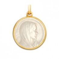 Médaille Vierge de l'Annonciation en nacre
