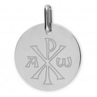 Médaille Chrisme (Or Blanc)