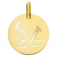 Médaille colombe ajourée (Or Jaune 9K)