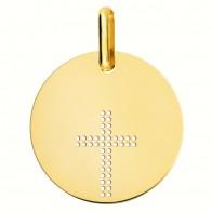Médaille croix ajourée (Or Jaune 9K)