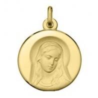Médaille Marie Auréolée (Or Jaune 9K)