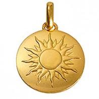Médaille je brillerai comme un soleil (avec texte) (Or Jaune)