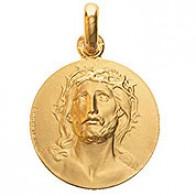 Médaille La Tête de Christ (Or Jaune)