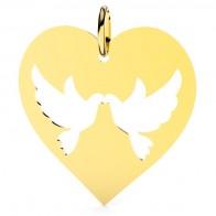 Médaille Le coeur des colombes (Or jaune)