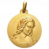 Médaille Madone d' Orléans (Or Jaune)