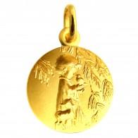 Médaille Ange à l'oiseau (or jaune)