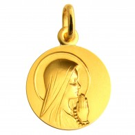 Médaille Vierge Ave Maria (Or Jaune)