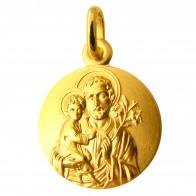 Médaille Joseph et l'Enfant auréolés (Or Jaune)