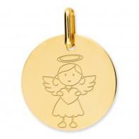 Médaille ange fille (Or Jaune 9K)