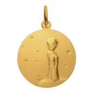 Médaille Petit Prince sur sa planète (Or Jaune)