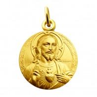 Médaille Sacré-Coeur de Jésus (Or Jaune)