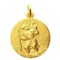 Médaille Saint-Christophe 15mm (Or Jaune)