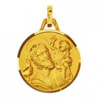 Médaille Saint Christophe (Or Jaune)