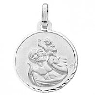 Médaille St Christophe (Or Blanc)