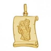 Médaille St Christophe Parchemin (Or Jaune)