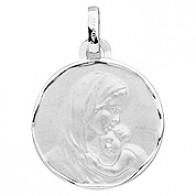 Médaille Vierge à l'enfant (Or Blanc)