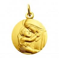 Médaille Vierge et l'enfant (Or Jaune)