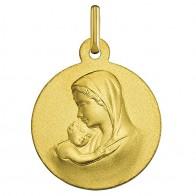 Médaille Vierge à l'enfant (Or Jaune)