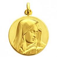Médaille Vierge au pouce (or jaune)