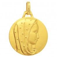 Médaille Vierge au voile étoilé (Or Jaune)